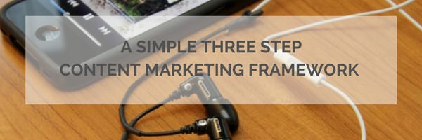 Simple Three Step Contetn Marketing Framework